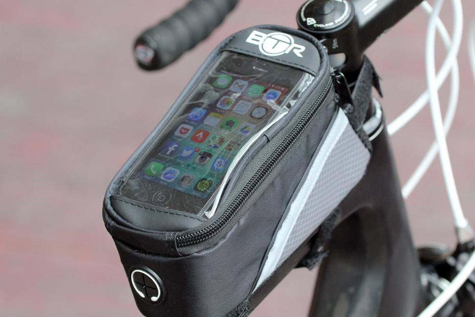 Review Btr Water Resistant Frame Bike Bag And Mobile