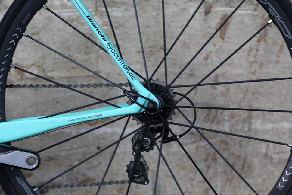 Bianchi Specialissima - rear drop out