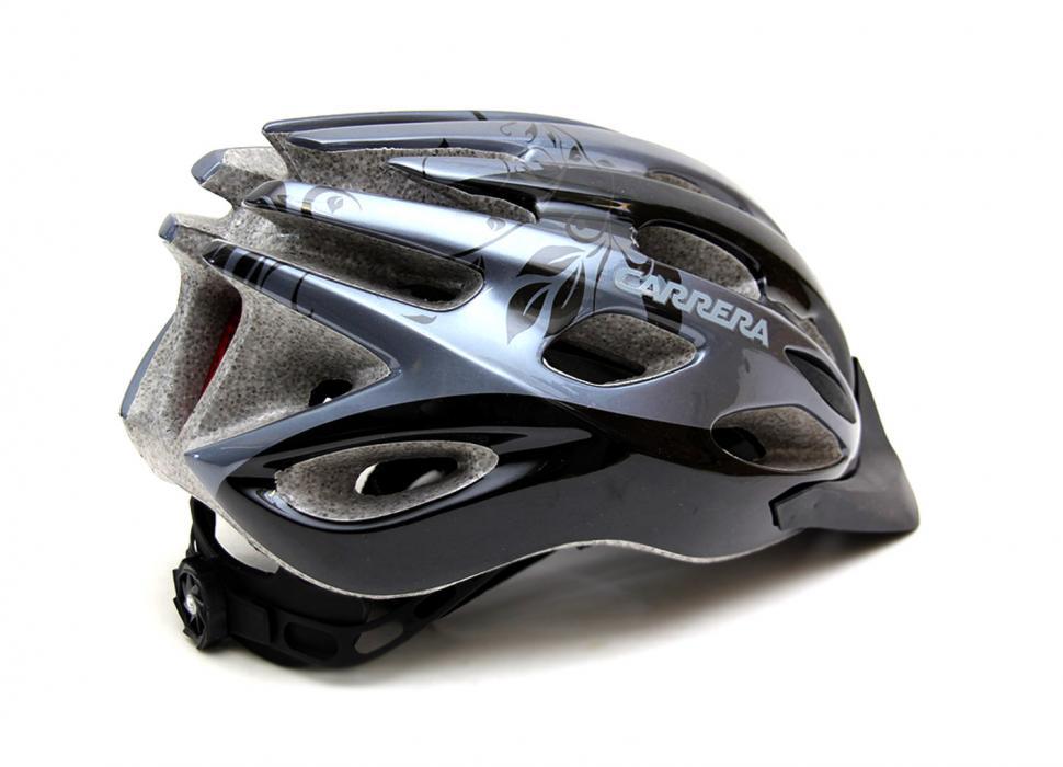CARRERA RADIUS HIGH QUALITY ROAD BIKE BICYCLE HELMET 54-57cm SILVER