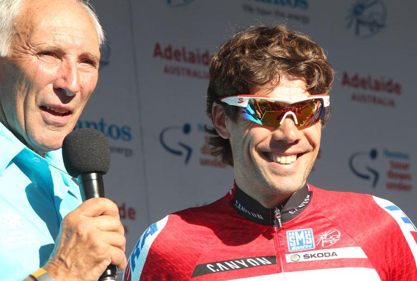 Oscar Freire and Phil Liggett(Photo - Santos Tour Down Under:Regallo)