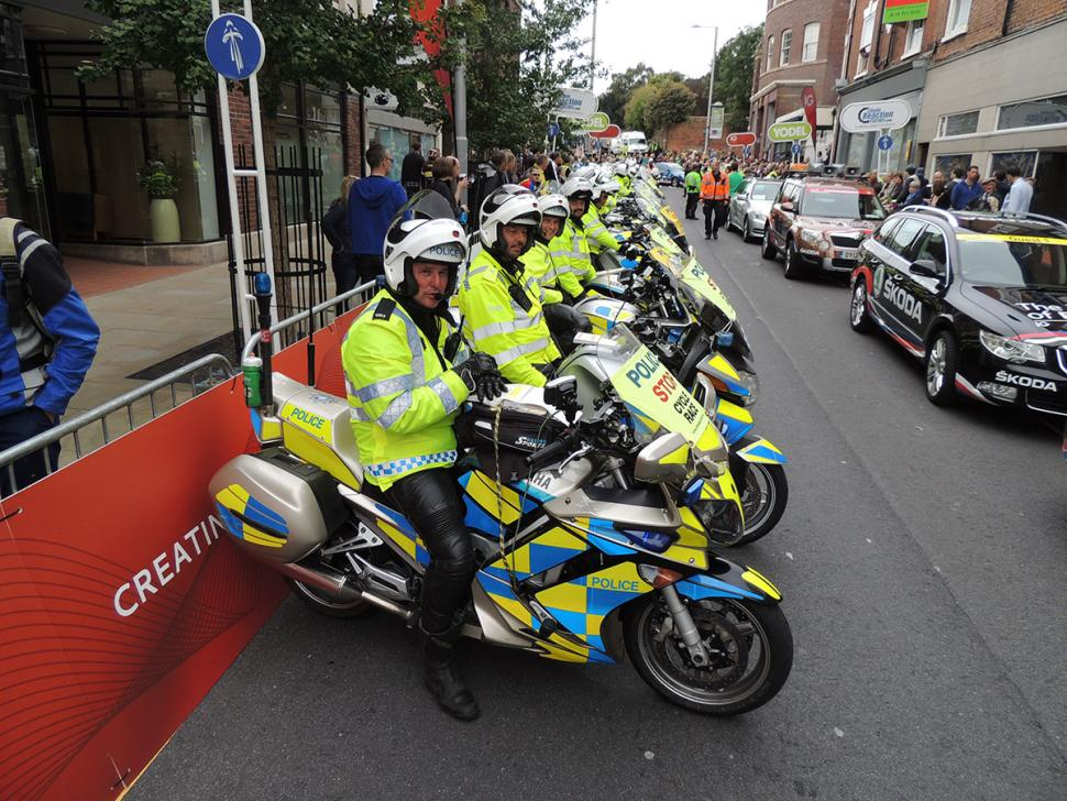 Police bikes at the Tour of Britain