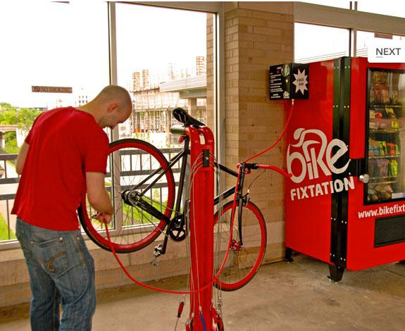 Great Idea Bike Fixtation Self Repair Vending Station Road Cc