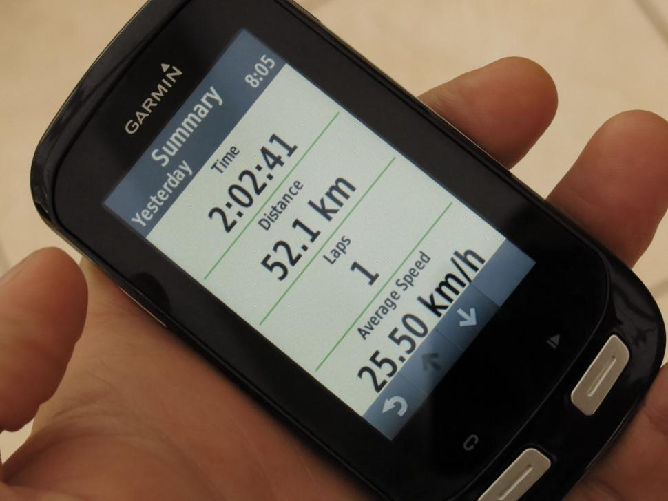 Garmin Edge 1000 - ride summary