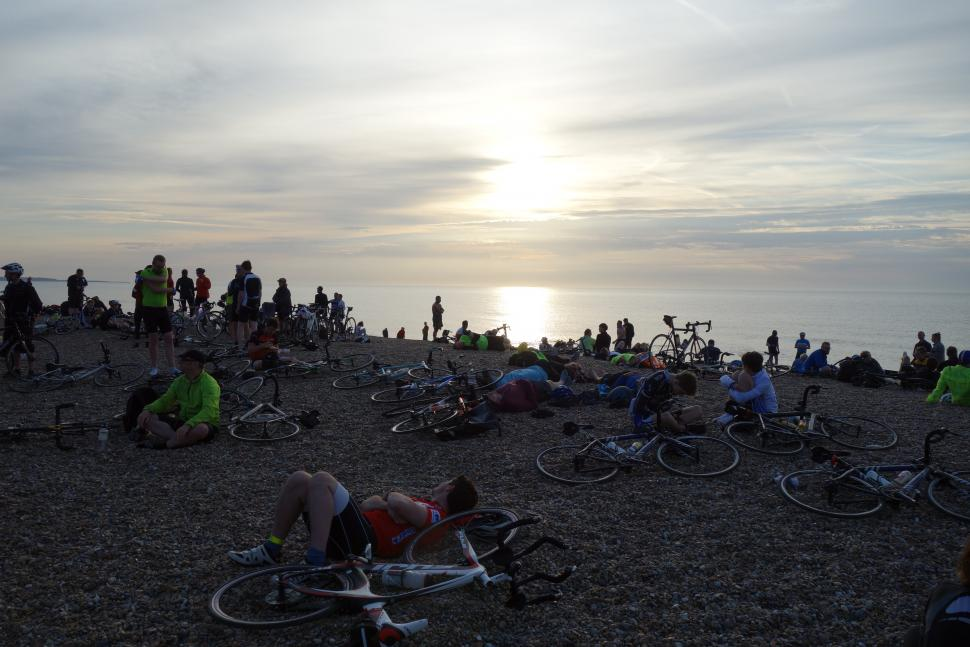 Dunwich Dynamo bikes on beach
