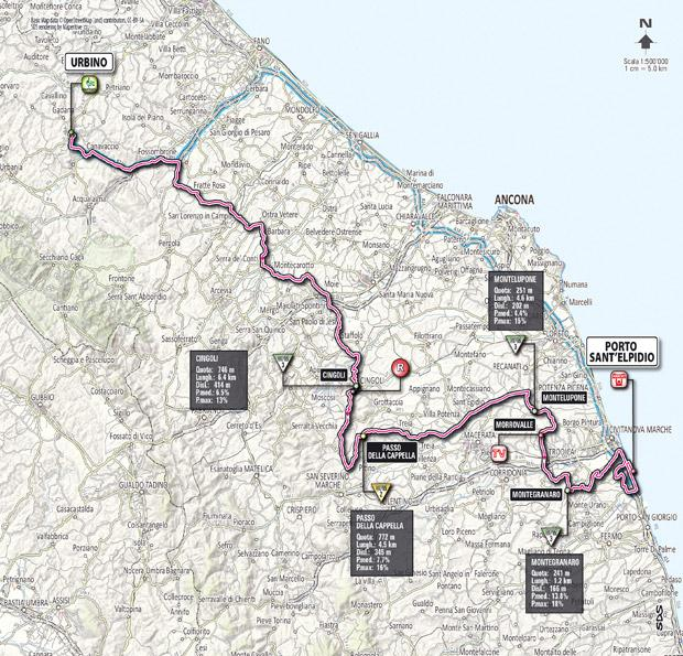 Giro 2012 Stage 6 map