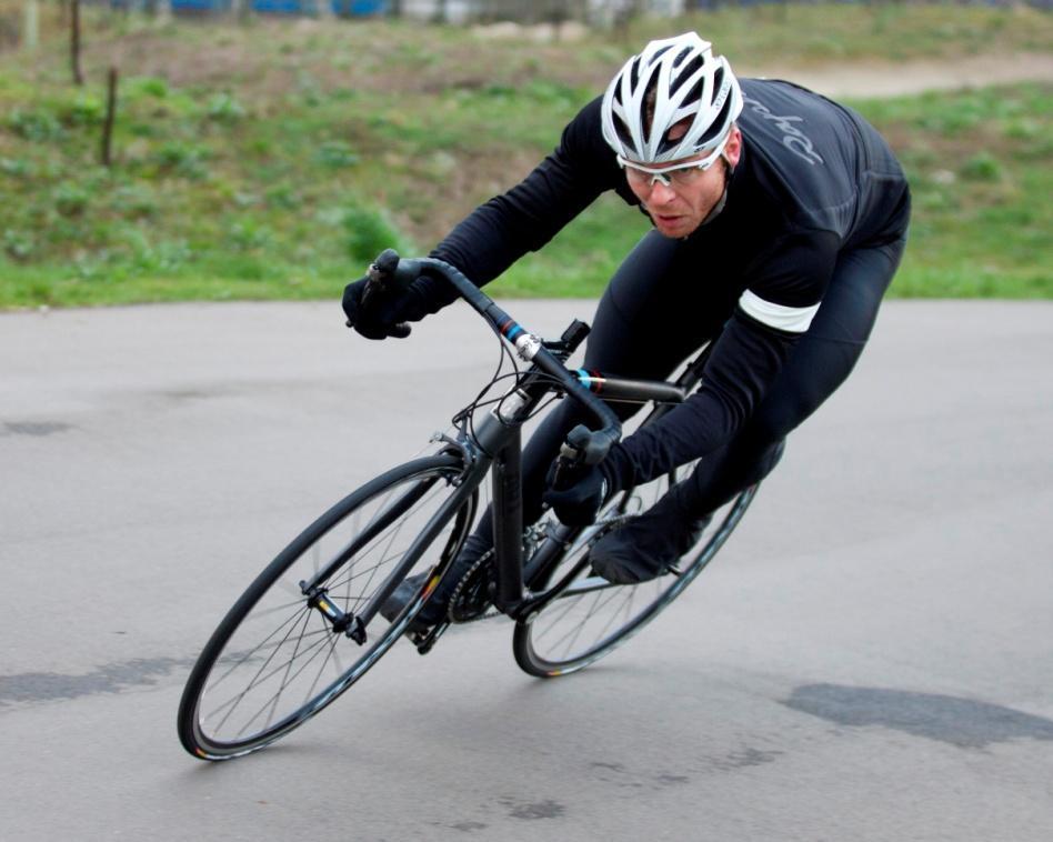 HOY bikes - checking the cornering