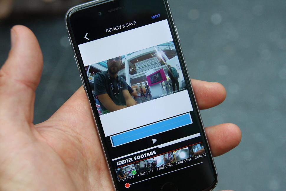 Cycliq Fly12 - app footage