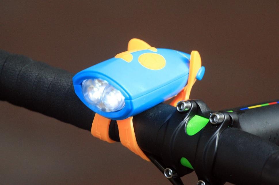 NEW! MINI HORNIT Bicycle Horn Bike Scooter Lights Sound Effects Black