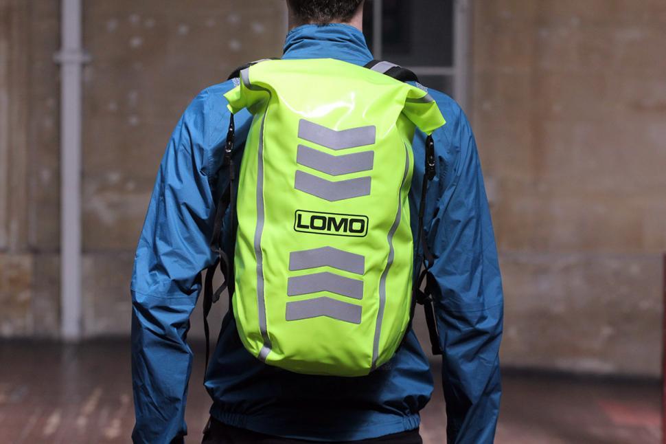 Lomo 30L High Visibility Backpack Dry Bag - worn