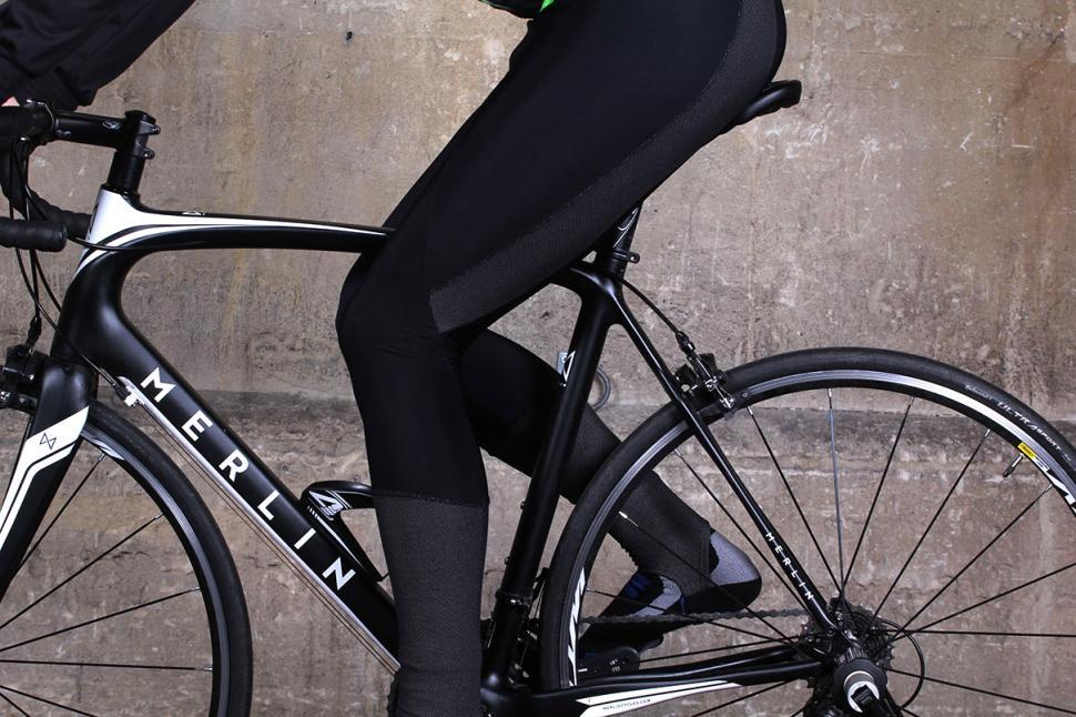 Lusso Nitelife Thermal Bib Tights - on bike
