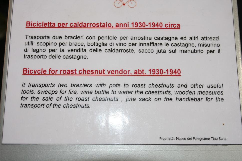 Tradesman bikes - hot chestnut seller bike info