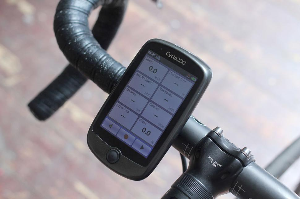 Mio Cyclo 200 bicycle navigation device - screen