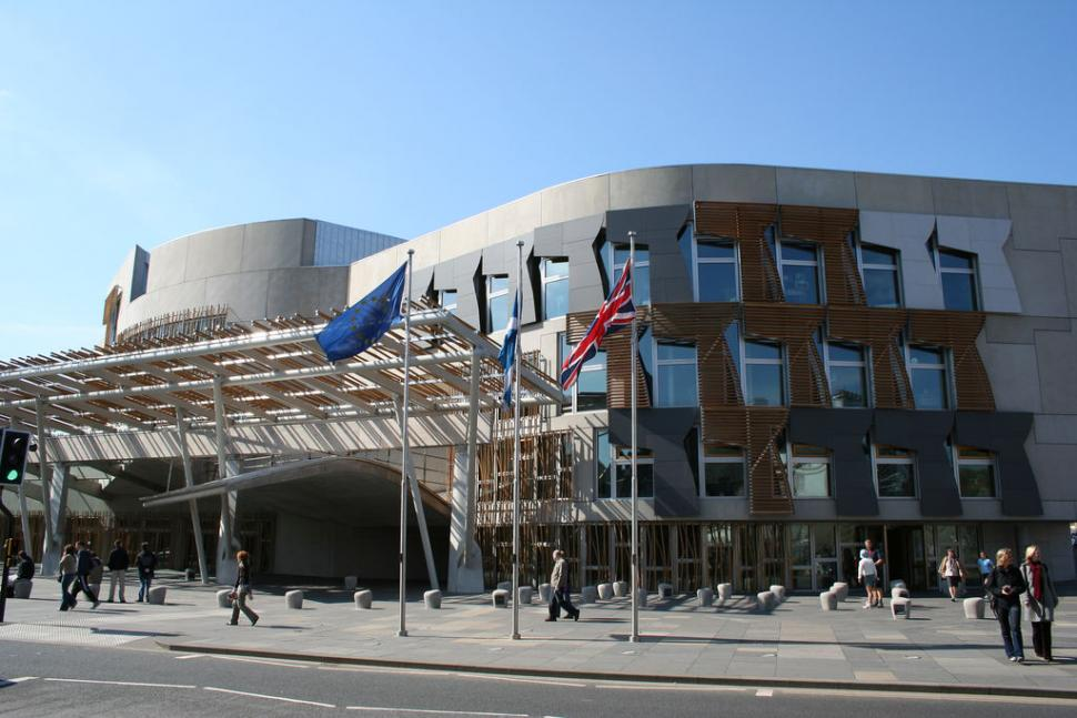 Scottish Parliament building (image CC licensed via Flickr user ajnabee)