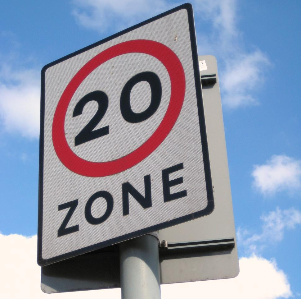 20mph sign (CC licensed by EdinburghGreens via Flickr)