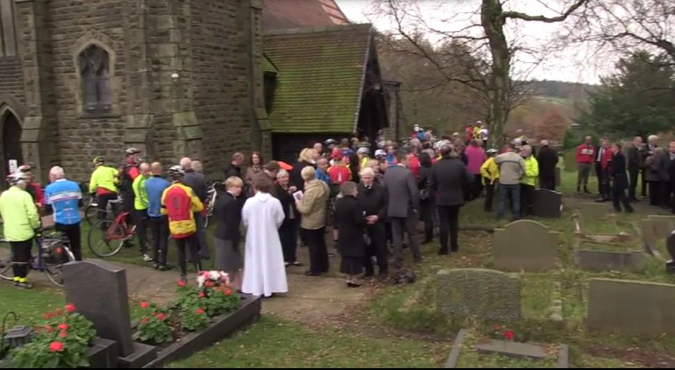 A huge turnout to celebrate the life of John Radford
