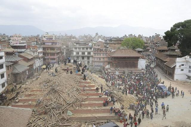 Aftermath of Nepal earthquake (CC licensed by Domenico via Flickr)