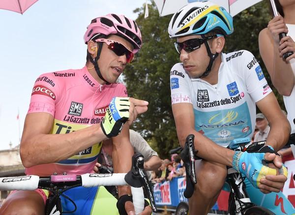 Alberto Contador and Fabio Aru at 2015 Giro d Italia (picture ANSA 1e4ecaf20