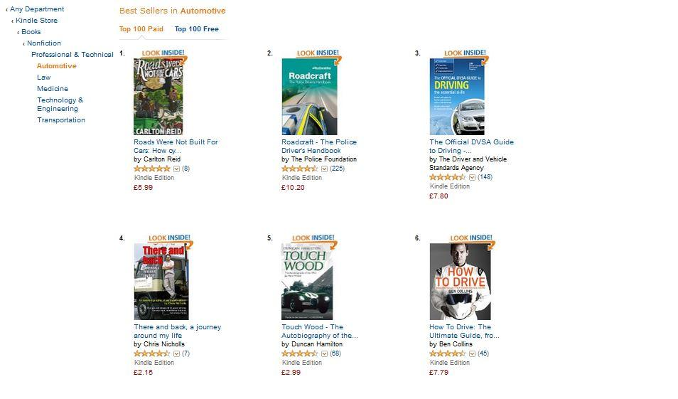 Carlton Reid's book hits Number 1 spot on Kindle Store - in