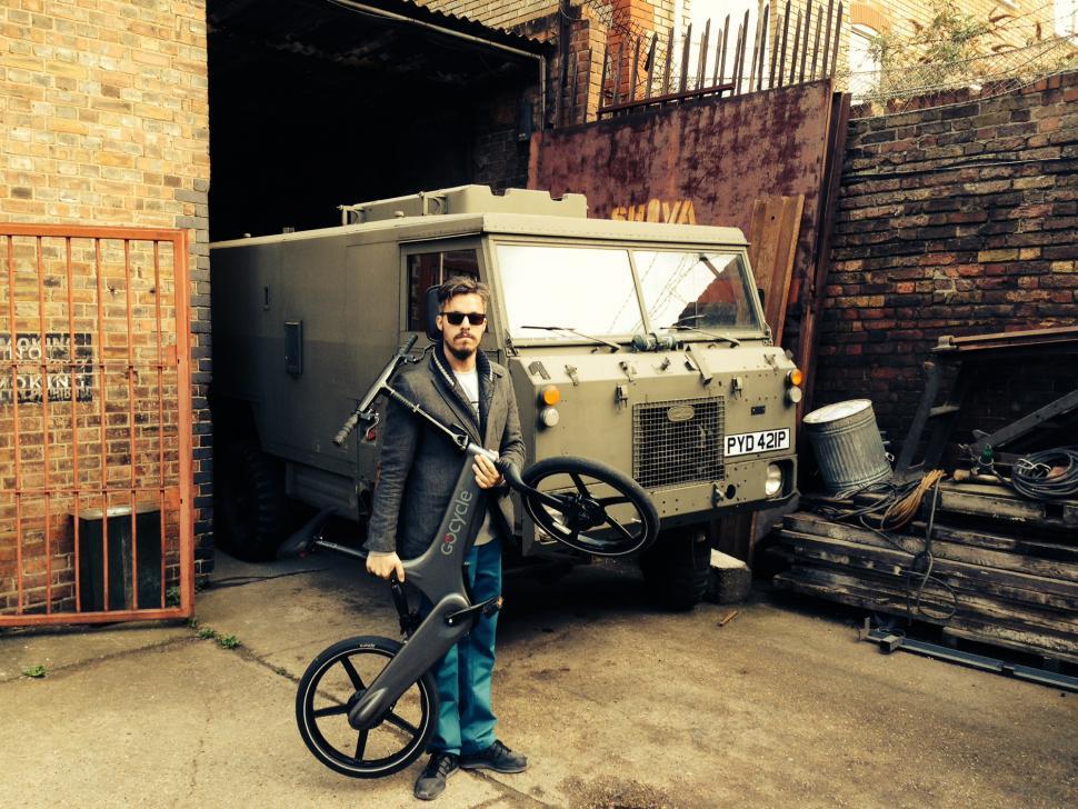 Ben Jaconelli reunited with his GoCycle