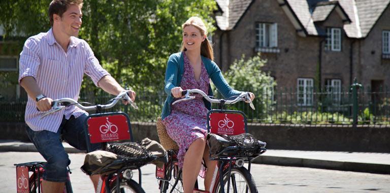 Bike and Go cyclists