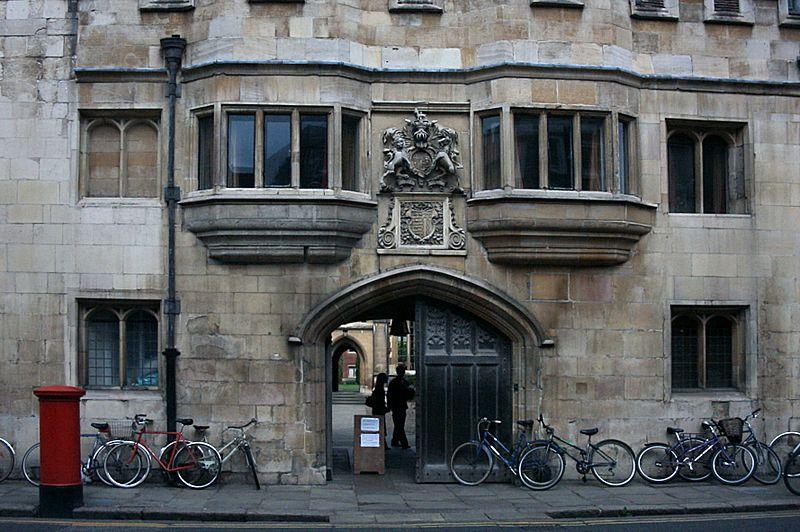 Bikes outside Pembroke College Cambridge