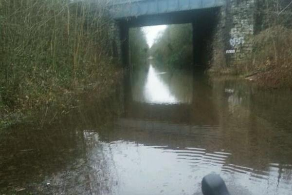 Bristol Bath Railway Path Flooding (picture credit AnalogueAndy on Twitter)