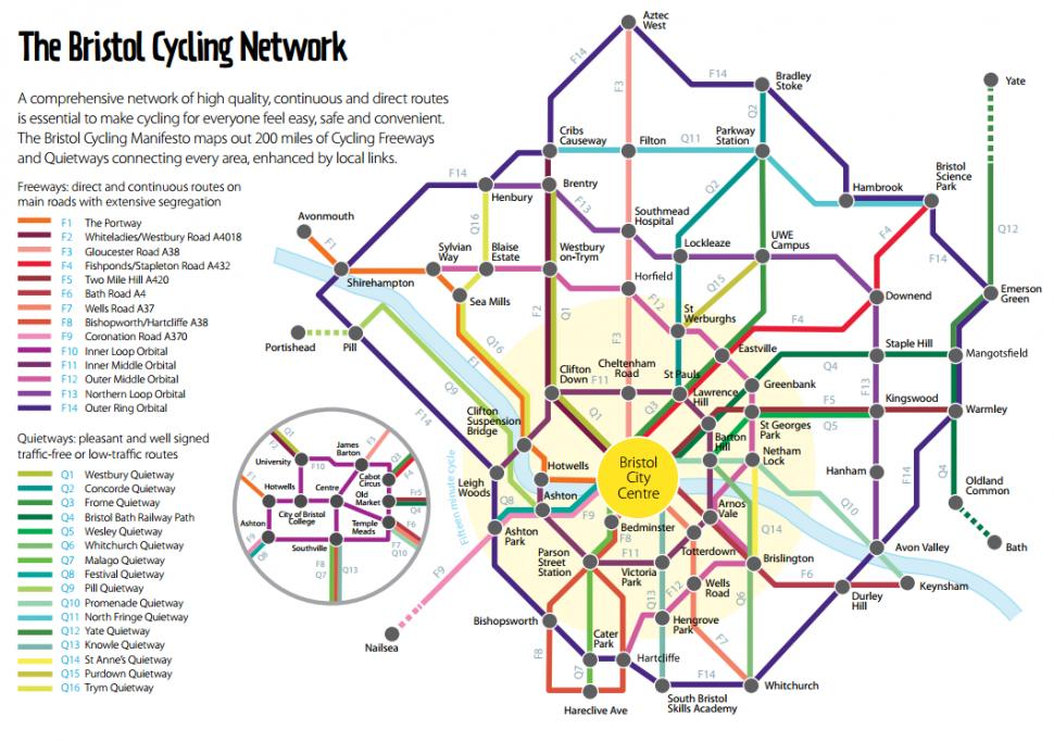 Bike Tube Map Bristol plans Dutch style network of bike routes across city | road.cc
