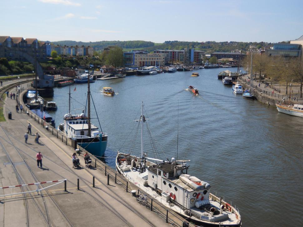 Bristol Harbour from M Shed (CC 2.0 BY SA licensed on Flicke by shrinkin'violet)
