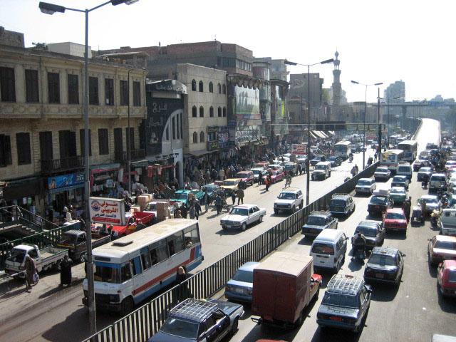 Traffic on Cairo street (image CC licensed via Flickr user Simona Scolari)