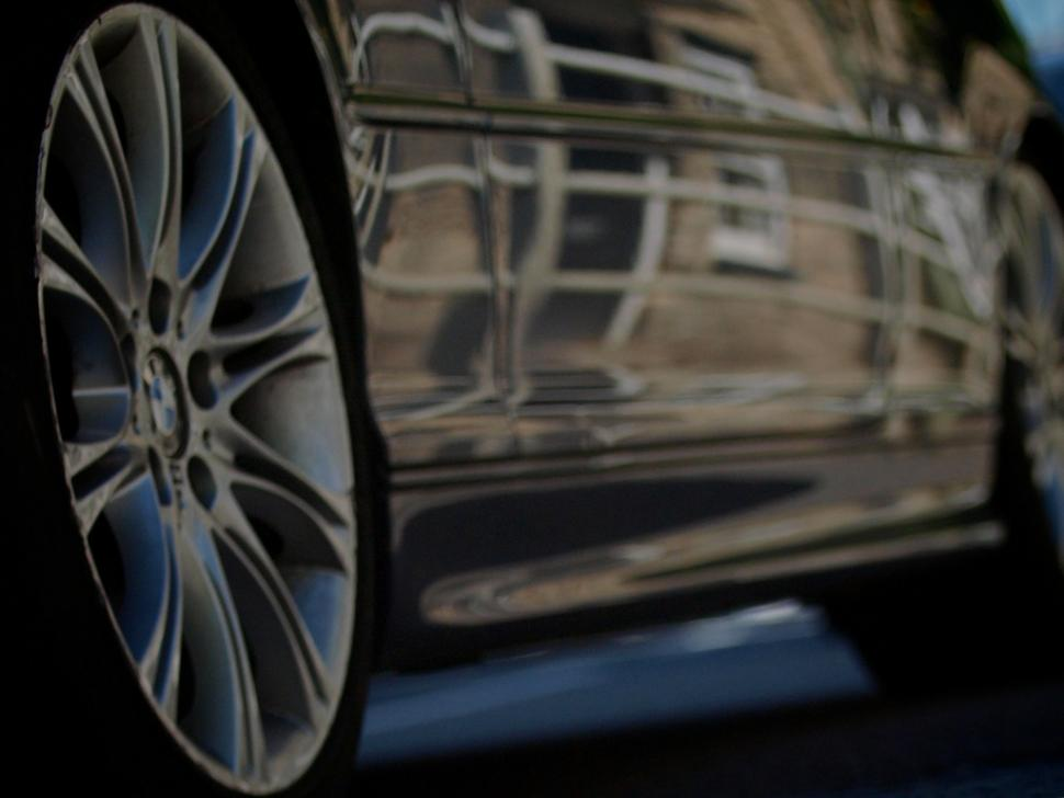 Car wheel at speed copyright Simon MacMichael.jpg