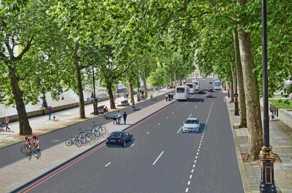 Cycle Superhighways plans - Victoria embankment