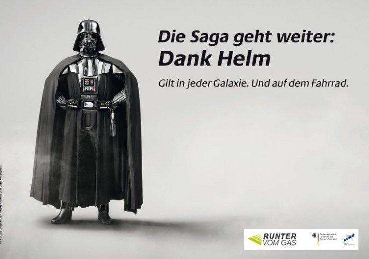 Darth Vader cycle helmet poster