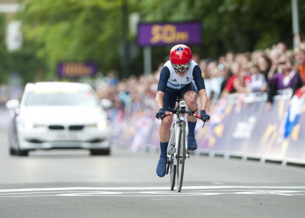 Emma Pooley in London 2012 TT (copyright www.britishcycling.org.uk)