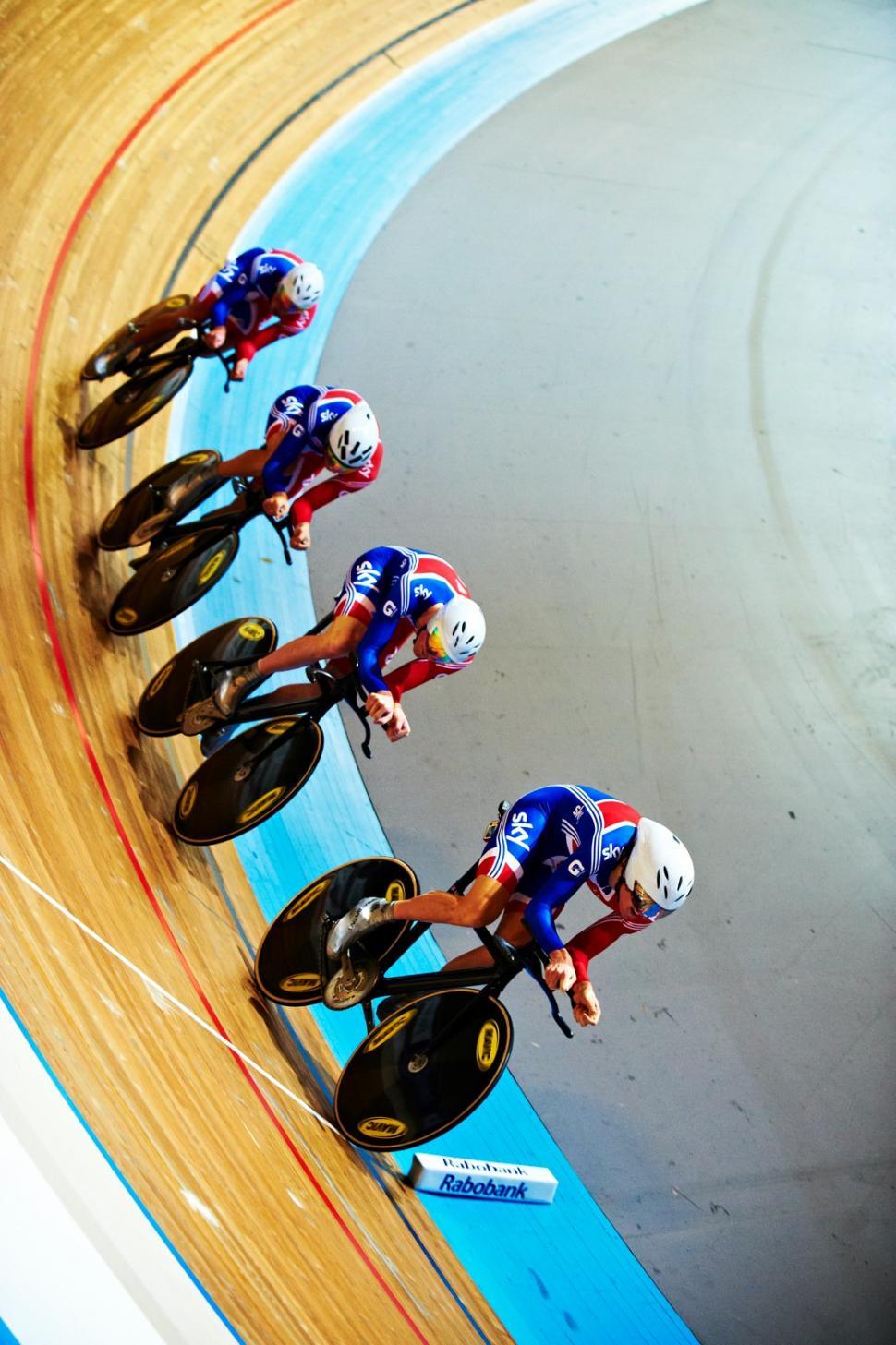 GB team pursuit, Apeldoorn Euro Champs 2011 (copyright britishcycling.org.uk)