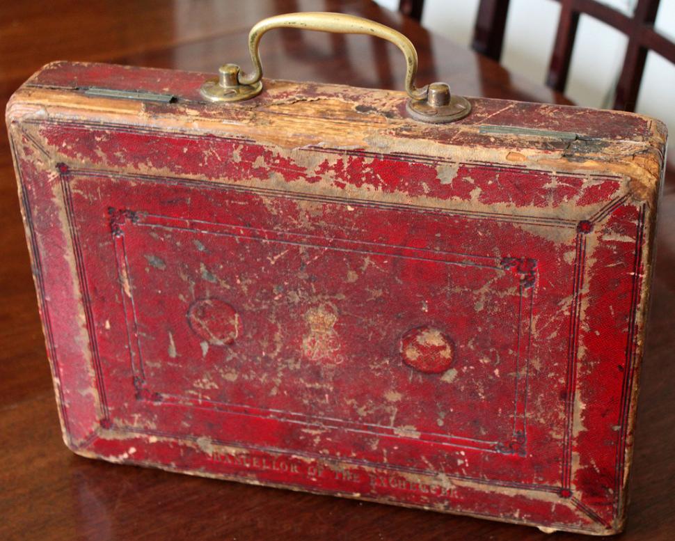 Gladstone Budget Box (picture - HM Treasury)