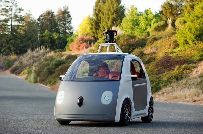 Google's self-driving car prototype (image via Google Blog)