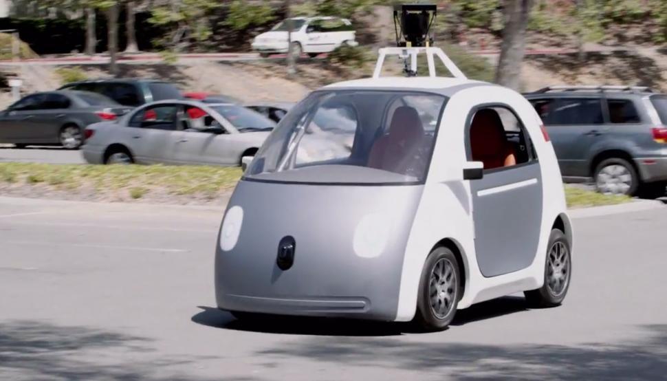 Google's self-driving car prototype (image via Youtube)