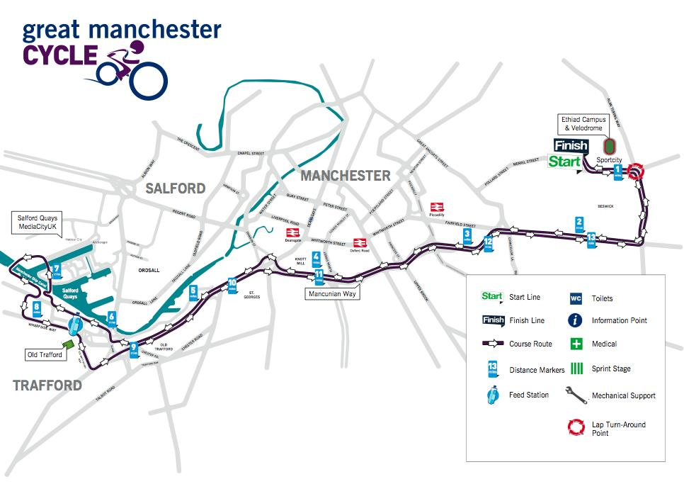 Great Manchester Cycle route