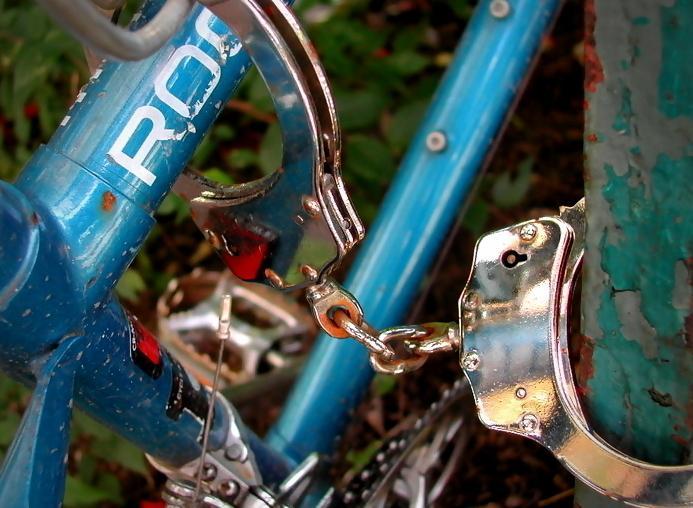 Handcuffed bike (CC licensed by sashamd)