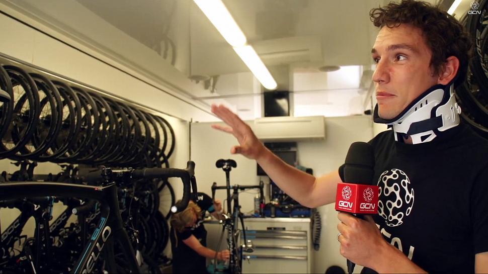 Inside the Team Sky mechanics' truck