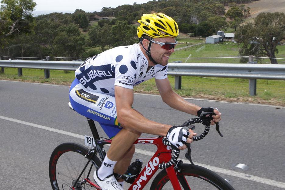 Jack Bobridge at the 2015 Santos Tour Down Under (picture credit Regallo)