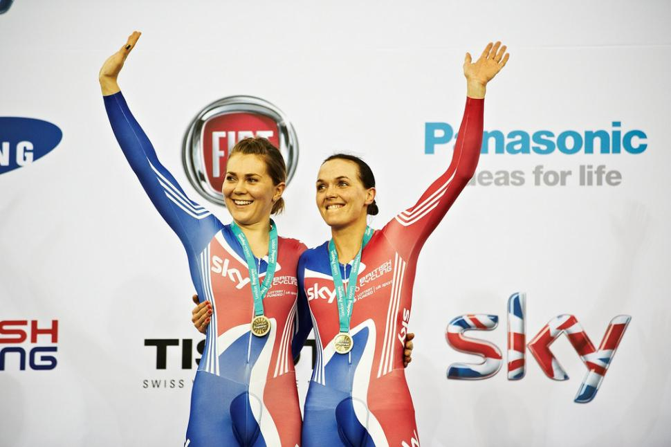 Jess Varnish and Victoria Pendleton (pic copyright Britishcycling.org.uk)