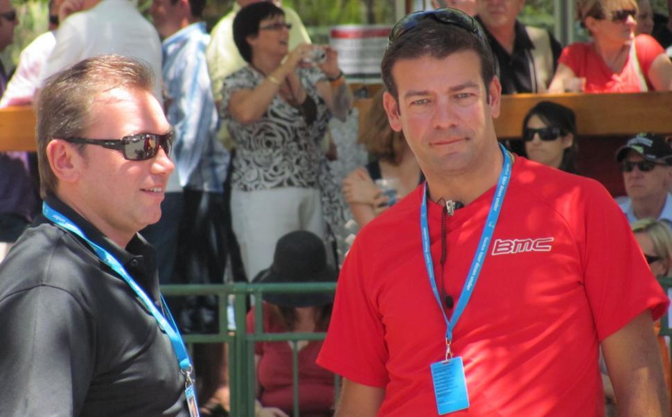 Jim Ochowicz and John Lelangue of BMC Racing (copyright cas_ks:Flickr)