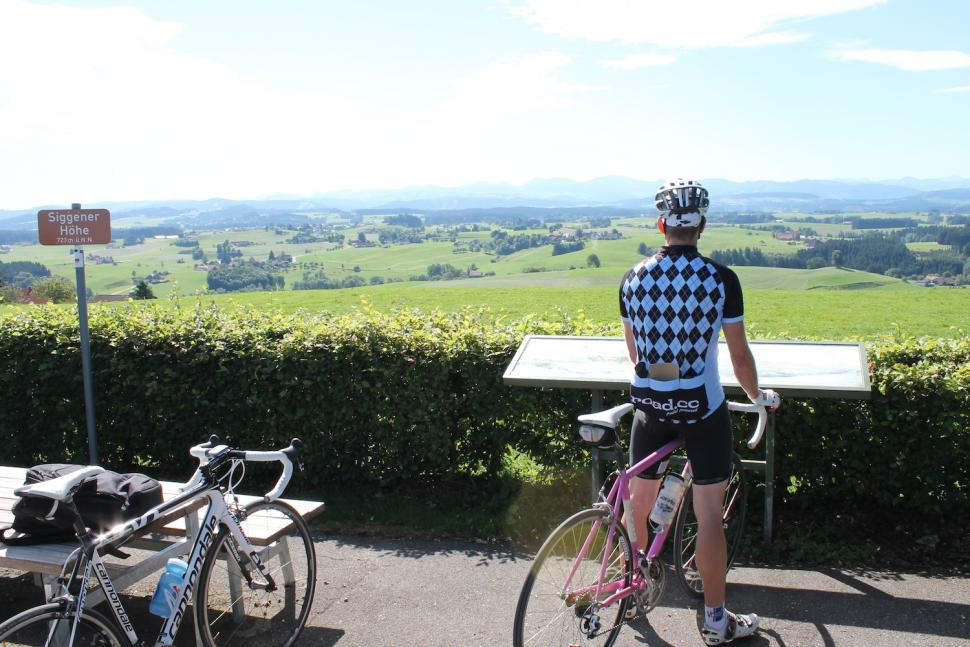 Eurobike 2012 demo day - Jo enjoys the view