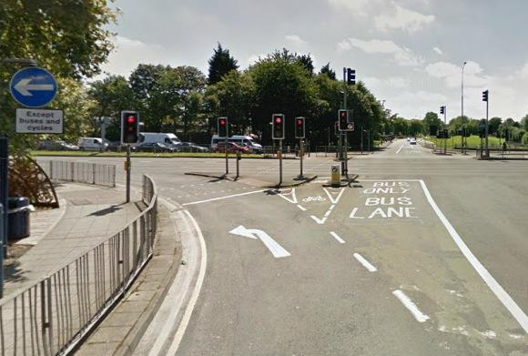 Junction of Horton Square and Belgrave Middleway (source Google Street View)