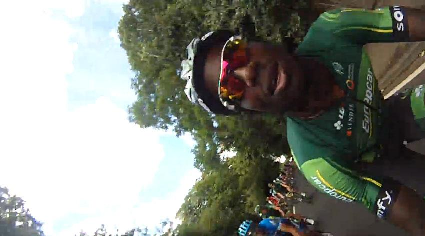 Kevin Reza with helmet cam