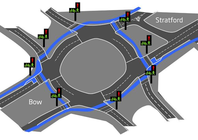 LCC Bow Roundabout Design