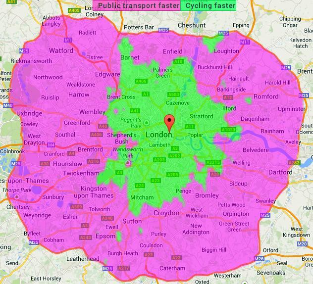 London ride map
