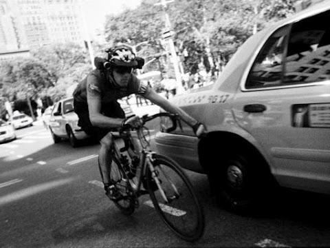 Lucas Brunelle taxi still from Line of Sight (source Bicycle Film Festival)