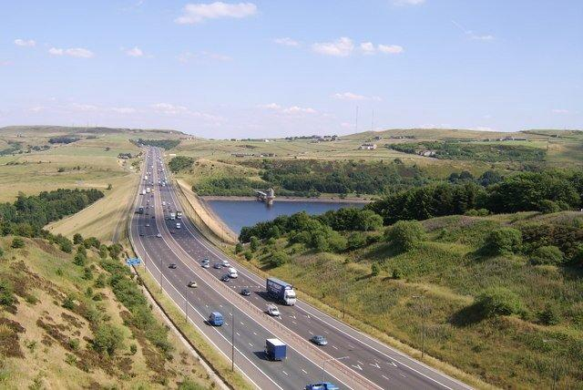 M62 motorway Calderdale by Mark Evison.jpg